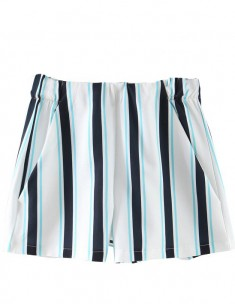 Classy Vertical Striped Shorts