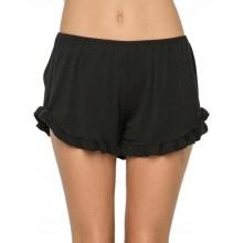 Ruffled Hem Basic Shorts
