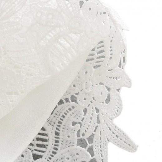 Ruffles White Lace Shorts