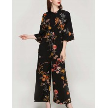 'Roxy' Long Summer Floral Jumpsuit