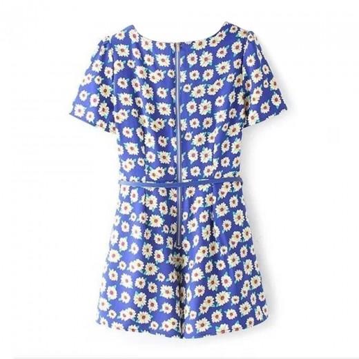 Soft Daisies Print Short Jumpsuit