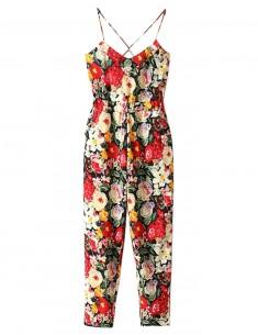 Multi-Colored Long Floral Jumpsuit