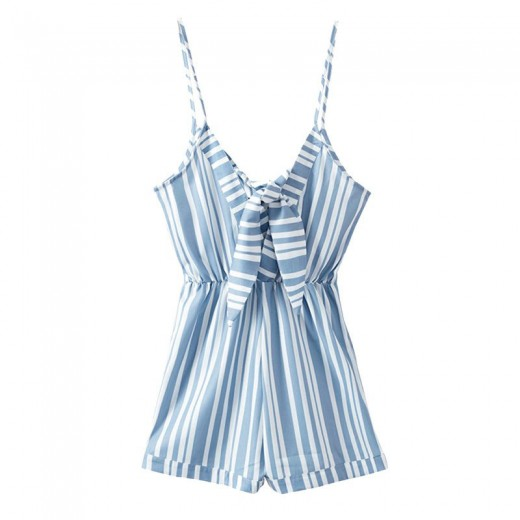 Back Tie Spaghetti Strap Playsuit
