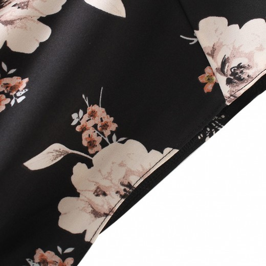 Wide Pants Floral Printed Jumpsuit