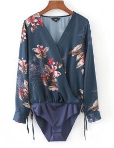 'Morag' Blooming Pattern Bodysuit