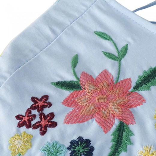 'Marina' Floral Embroidered Jumpsuit