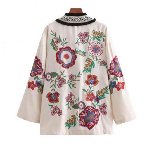 'Sierra' Retro Floral Kimono Jacket