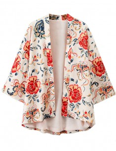 'Peonaria' Kimono in Floral Print