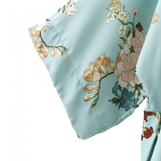 'Leah' Wide Sleeves Floral Kimono