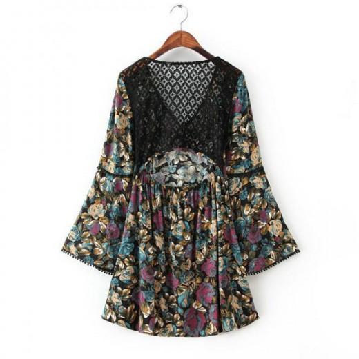 Backless Bohemian Tunic Dress