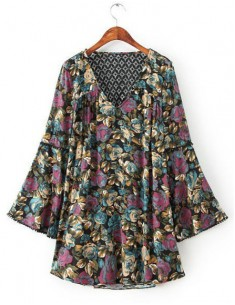 Backless Bohemian Tunic Dress