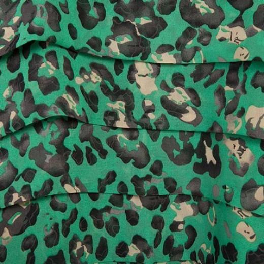 Green Leopard Print Tunic