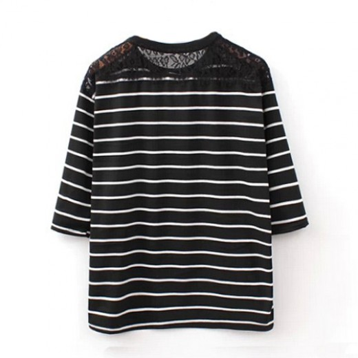 Enjoy Today Striped Lace Top