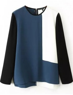 Three-Color High Low Shirt