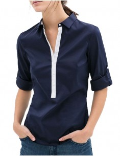 Casual Solid Color Buttons Blouse