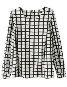 Black & White Squared Blouse