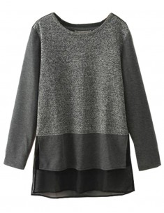 O-neck Casual Warm Zippers Top