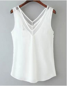 V-neck Sleeveless Delicate Top