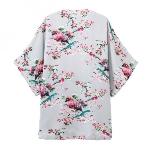 Birds Printed Kimono