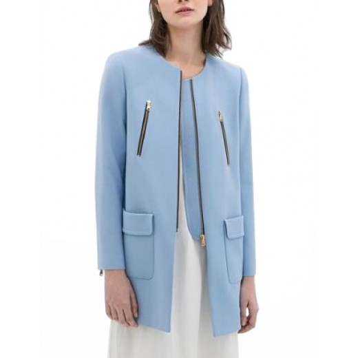 Big Pockets Sky Blue Coat