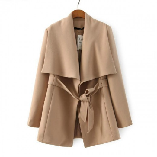 Wide Collar Lightweight Vintage Coat