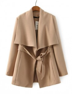 Wide Collar Lightweight Vintage Coat