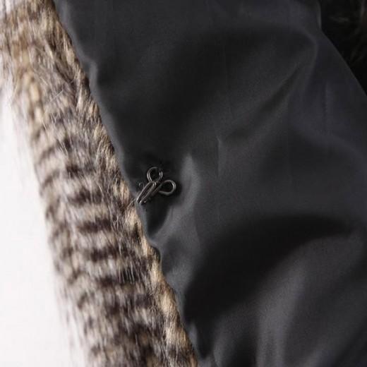 Striped Faux Fur Vest