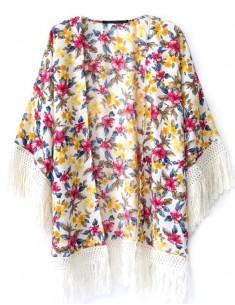 Colorful Loose Fringe Kimono