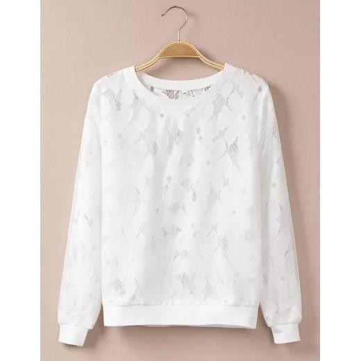 White Crochet Pullover