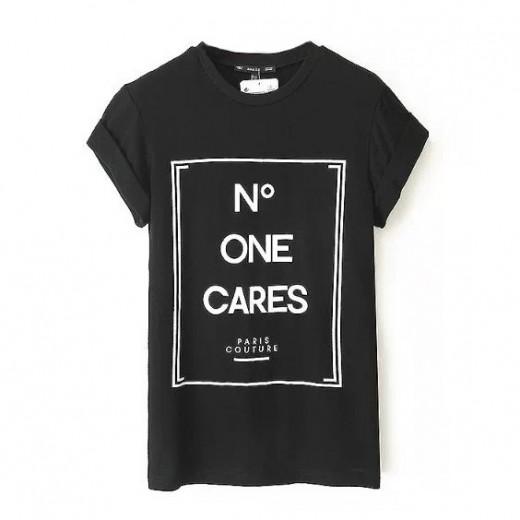 Cool Letters Print Paris T-shirt