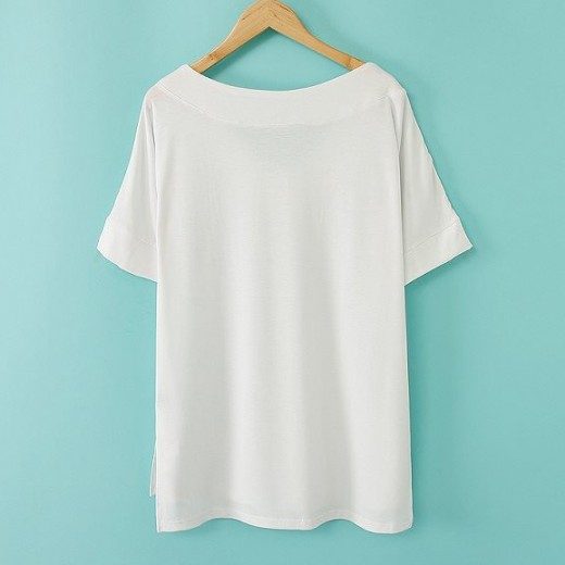 Casual V-neck High Low T-shirt