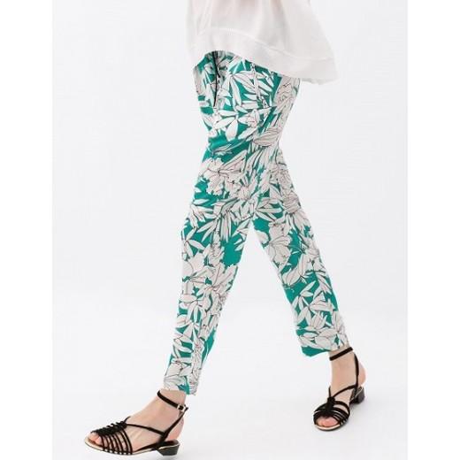 Floral Print Green Pants