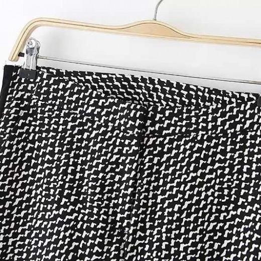 Black & White Geometric Pattern Pants