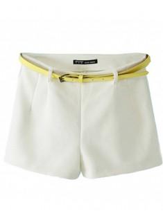 Elegant Side Zipper Shorts